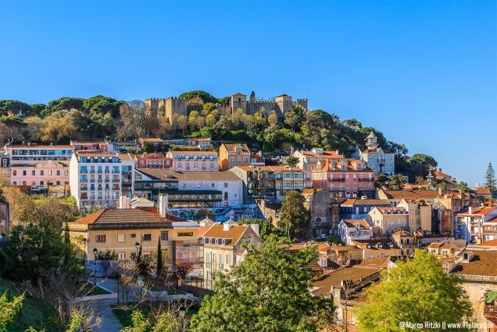 Sicht auf das Castelo de São Jorge