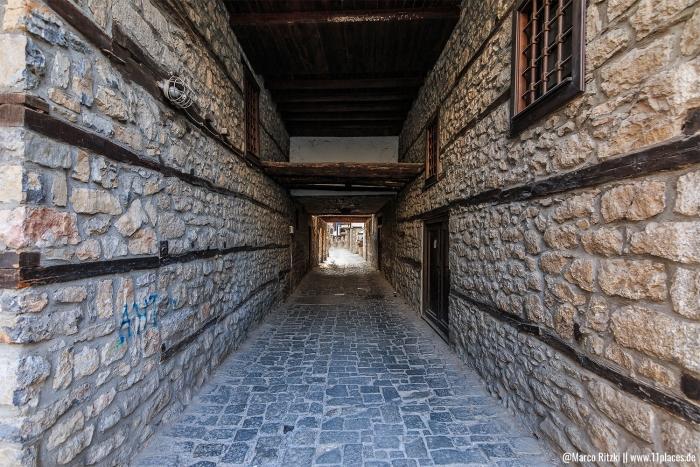 enge Gasse in der Altstadt Ohrid