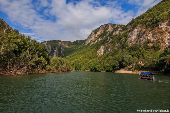 Landschaft des Matka Canyon