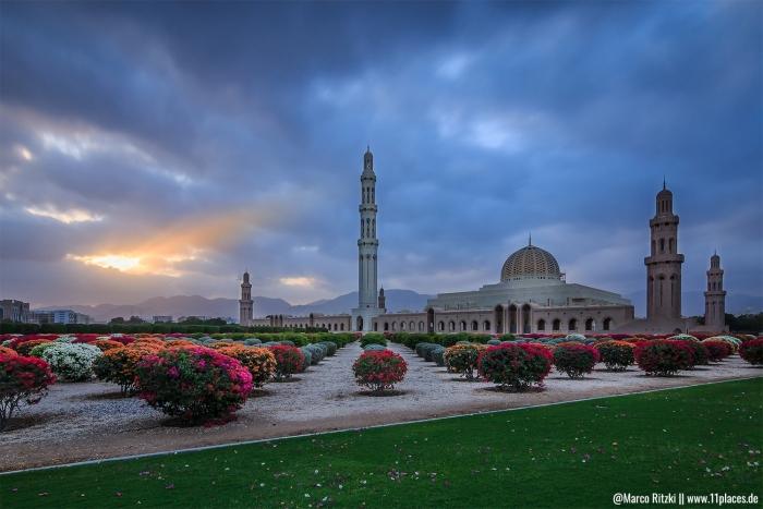 Große Sultan Qabus Moschee in Maskat
