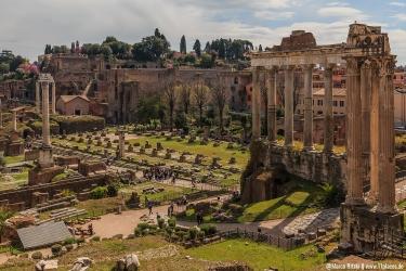 Forum Romanum mit dem Palatin Hügel