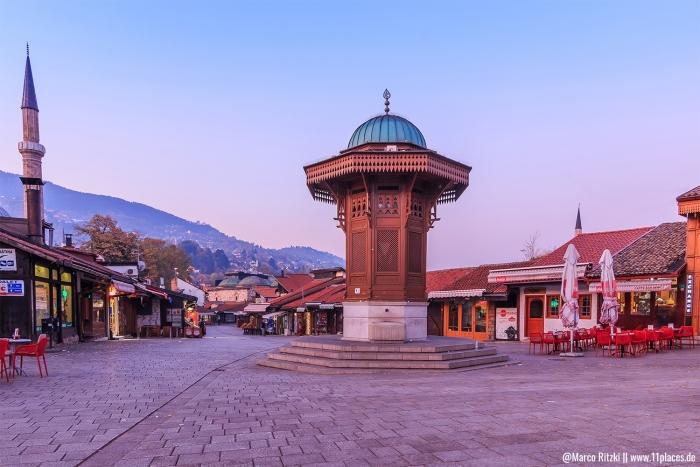 Sebilj am Morgen in Sarajevo